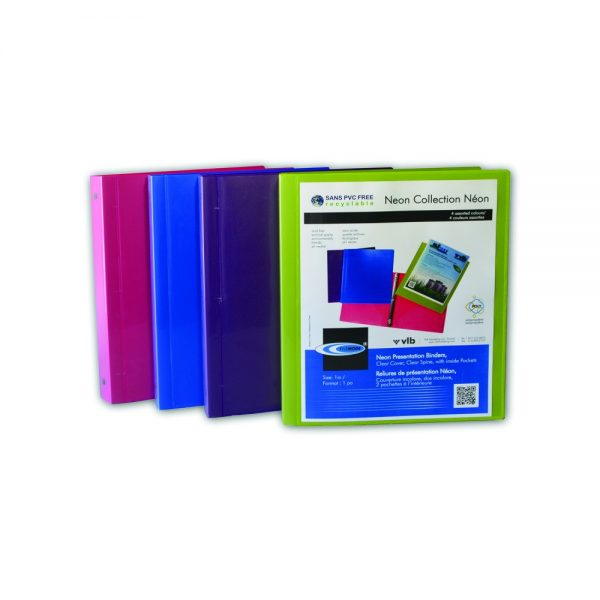 Durable Neon Presentation Binders - AE64990