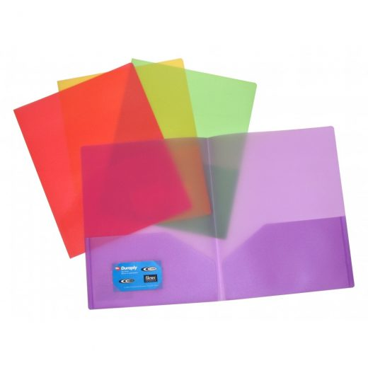 Durable Frosted Two Pocket Folder - AE31200