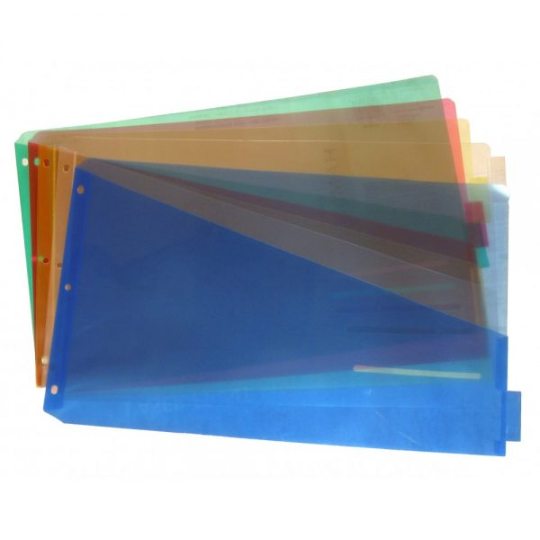 "Durable 11"" X 17"" Binder Pocket, Insertable 5 Tab - 30236"