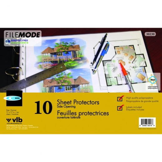 Durable 11″ X 17″ Sheet Protectors
