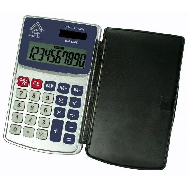 Dual Power Hinged Hard Shell Case Handheld Calculator - AUR-B5252II