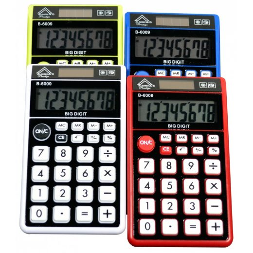 Dual Power Handheld Calculator - Mixed color - B-6009
