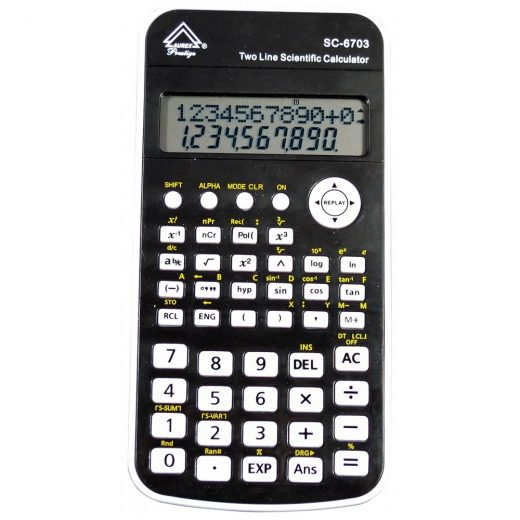 Battery Powered Handheld Calculator - Black color - SC-6703