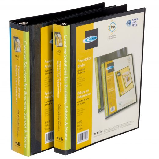 Durable Black Presentation Binders
