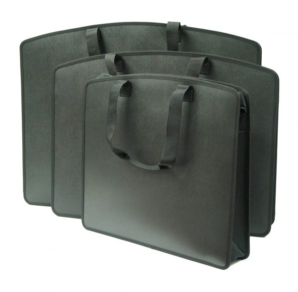 Durable Black Color Carry All Tote Cases With Handles