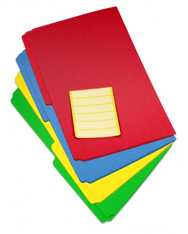 Durable Legal Size Poly File Folders
