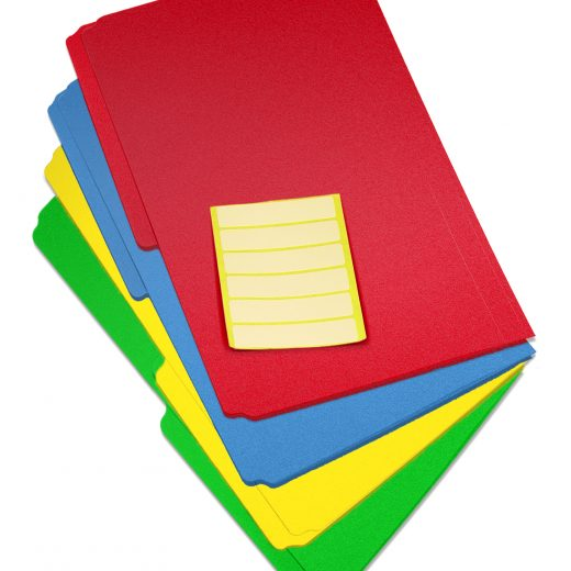 Durable Letter Size Poly File Folders