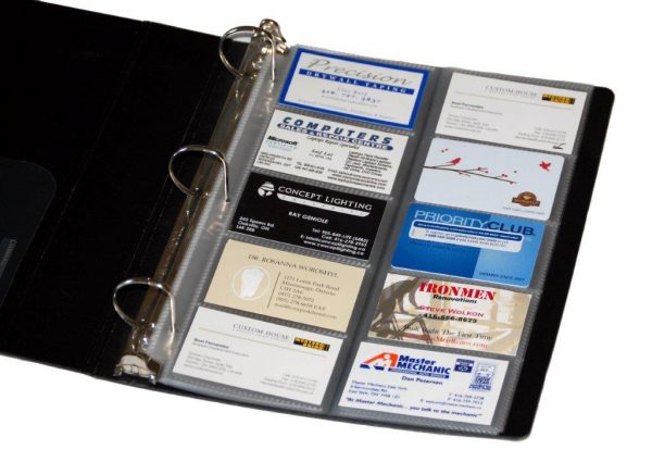 Durable Poly Business Card Holder Refills - 64073