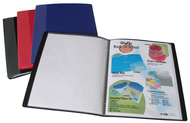 Durable Letter Size Presentation Books VLB Marketing