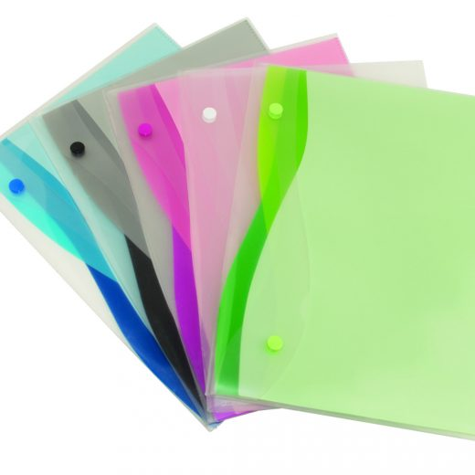 Durable 4 Pocket Envelopes – Colored Wave Design - AE15280