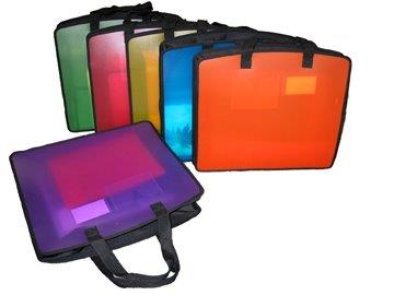 Durable Assorted Color Carry All Tote Cases With Handles