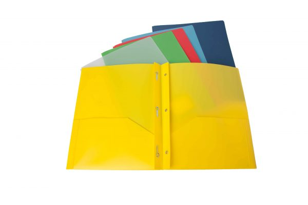Durable Frosted 2 Pocket Presentation Folder