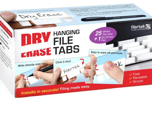 Durable Dry Erase Hanging File Tabs