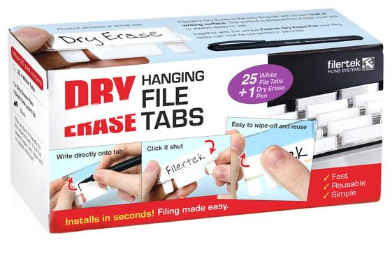Durable Dry Erase Hanging File Tabs