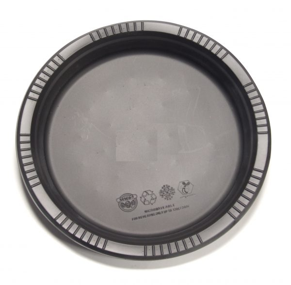 Buy Cornstarch Dinnerware Plates from VLB Marketing, it is microwave safe, washable and fully compostable with food waste in 30-60 days in commercial facilities.