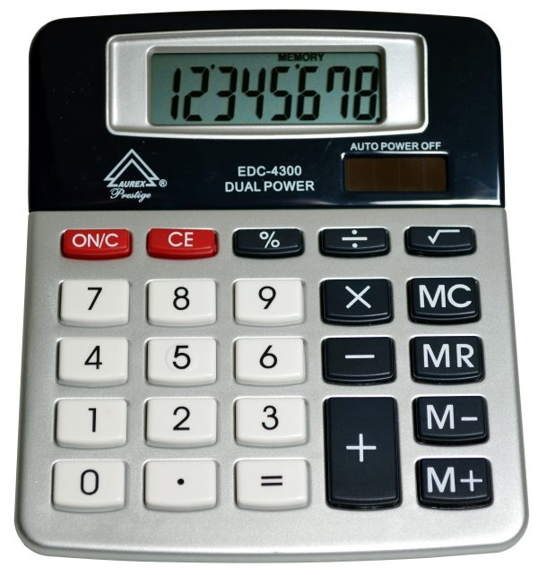 Tilt Display Desktop Calculator - AUR- EDC4300